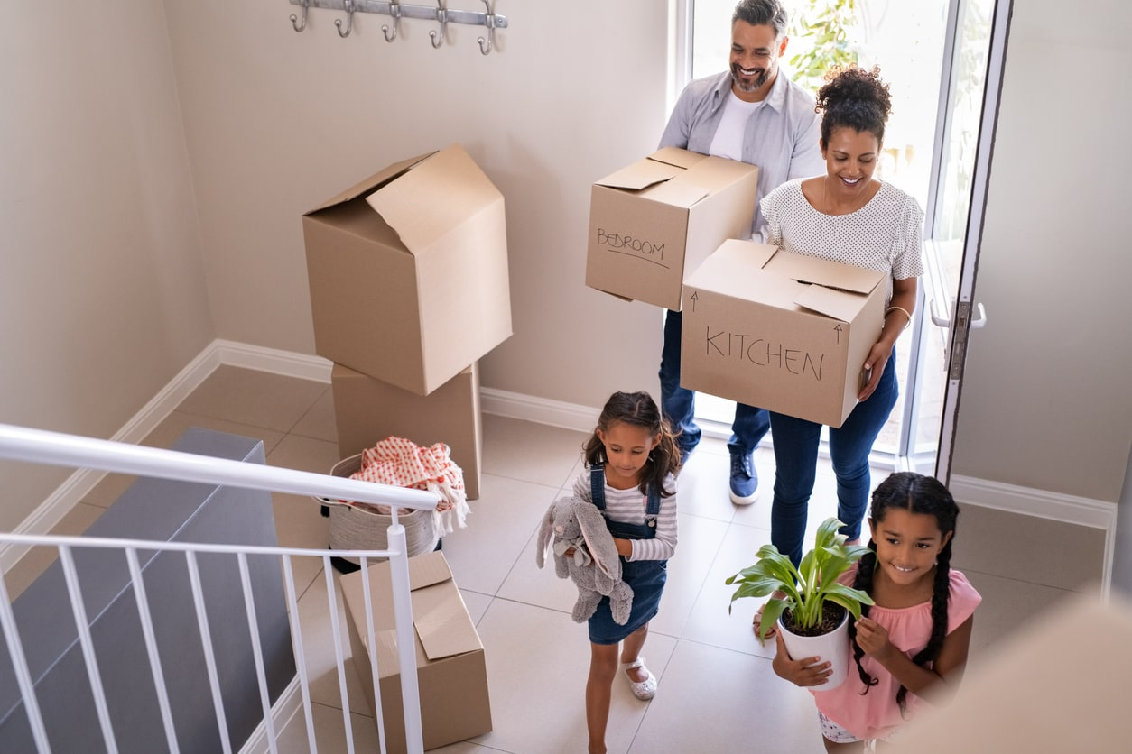 Mortgages For Contractors: How To Prepare For Your Application, image of family moving in   Crunch