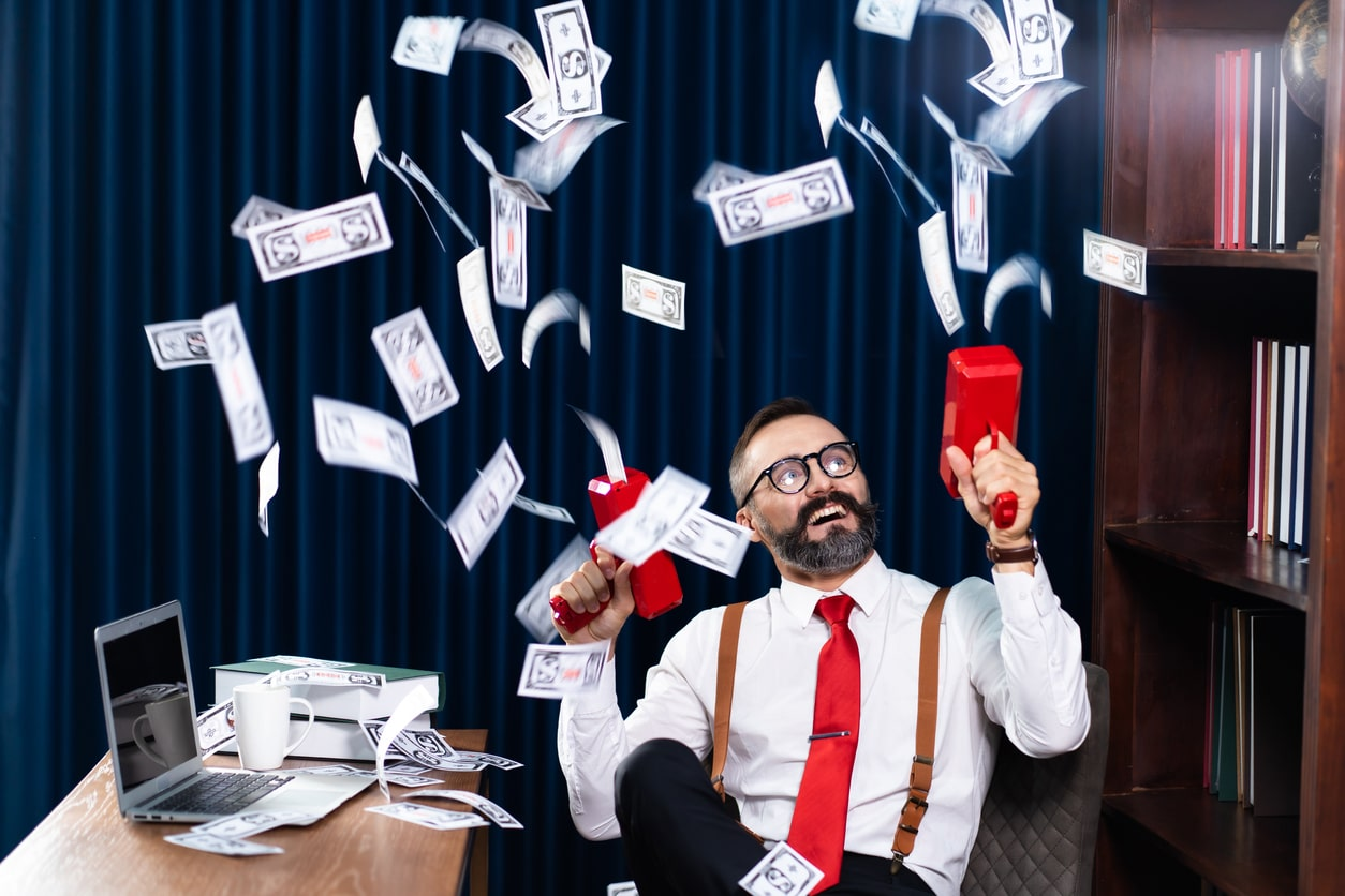 The three numbers that can help make you a millionaire, image of someone printing money | Crunch