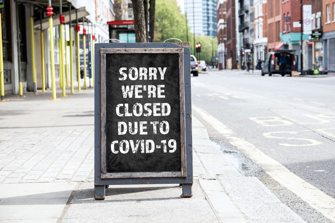 Coronavirus Job Retention Scheme - Guide For Employers, image of a closed sign   Crunch