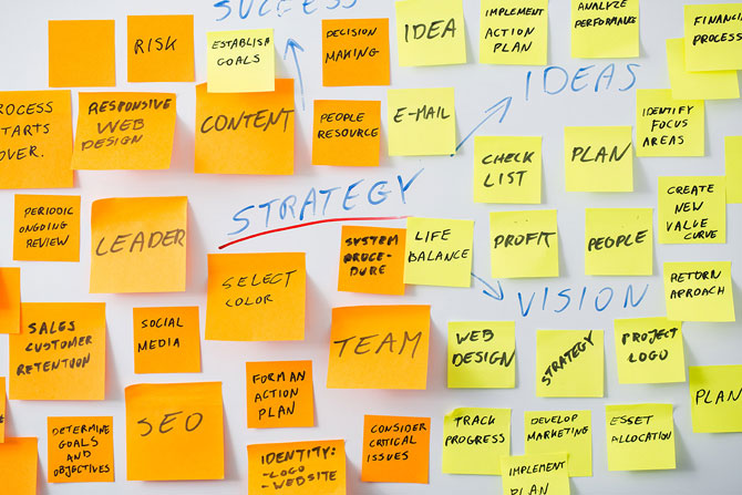How To Generate Leads For Your Small Business   Crunch - Image of post it notes