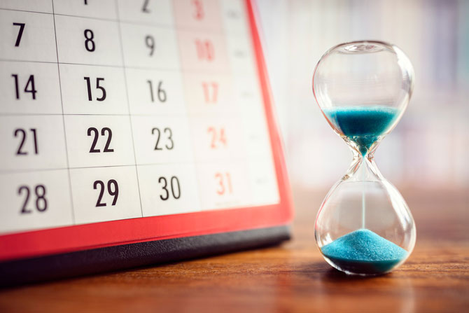 Ultimate productivity tips for the self-employed, image of a calendar | Crunch
