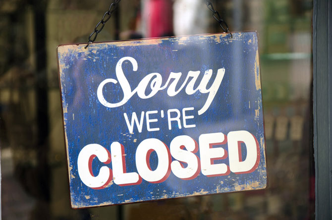 What is a Members' Voluntary Liquidation (MVL)?, image of a closed sign | Crunch