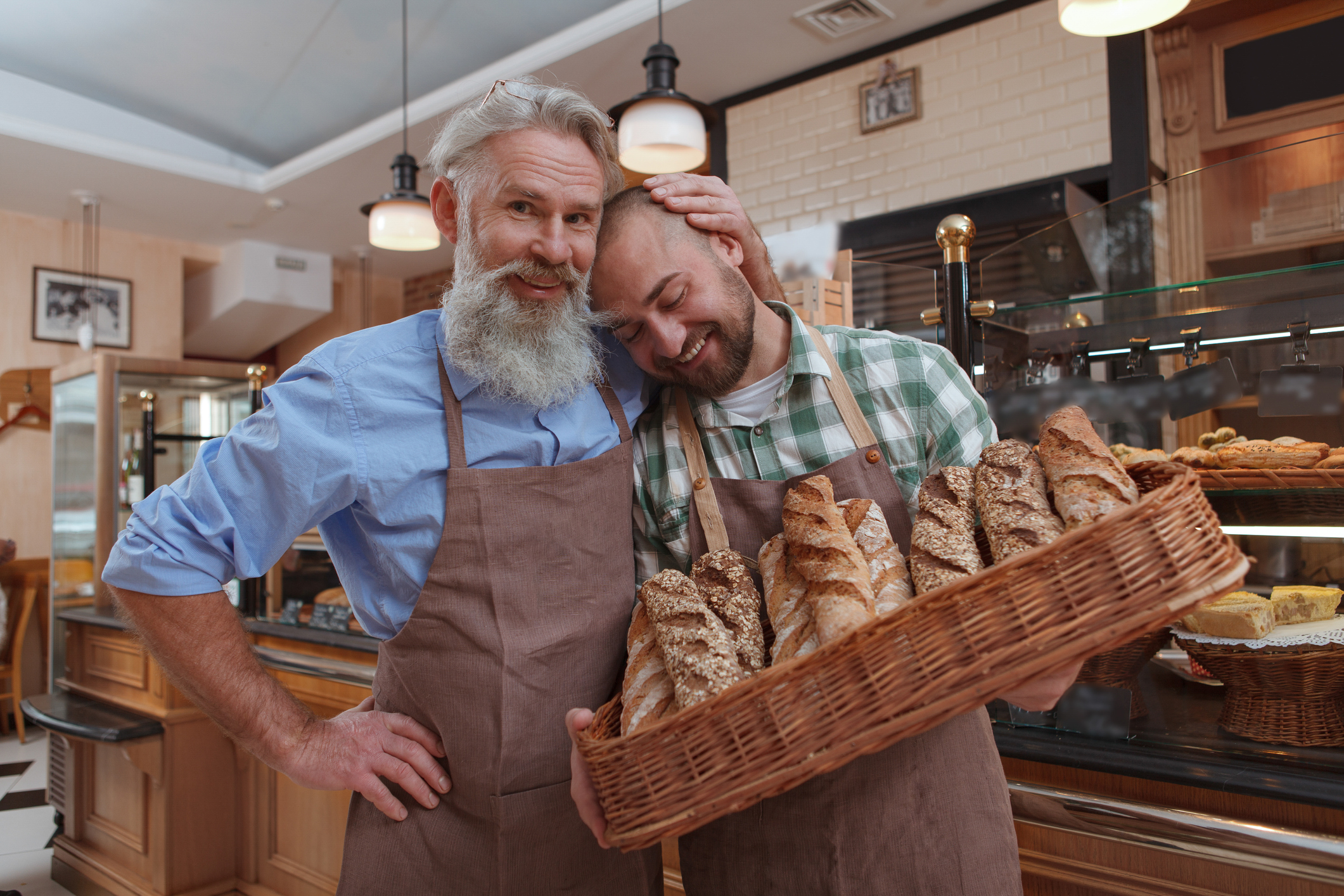 Father and son at a bakery - small business recommendations | Crunch