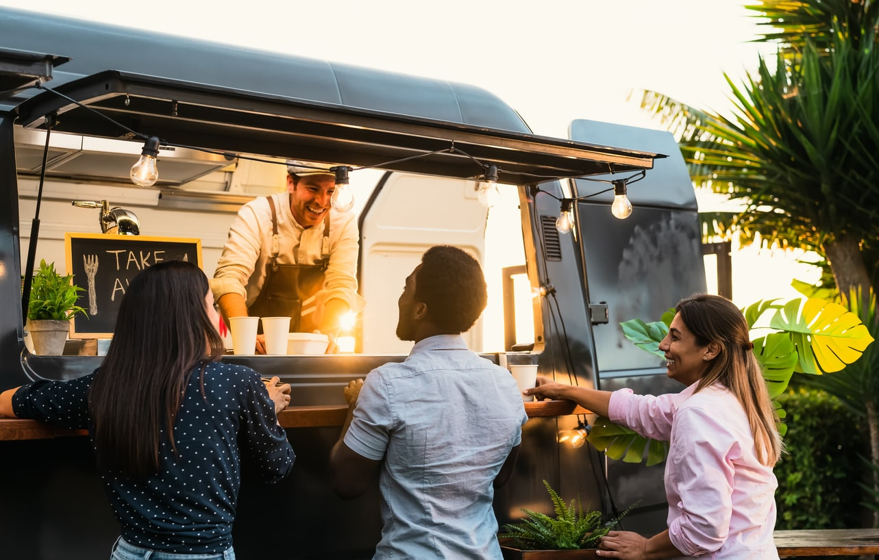 What are commercial mortgage loans, image of someone working from their own food truck   Crunch