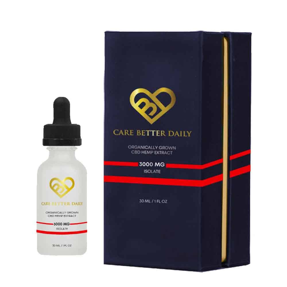 Isolate - Care Better Daily 3000mg CBD – 30 ml / 1 oz Tincture