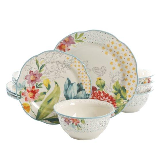 12-Piece Blooming Bouquet Dinnerware Set