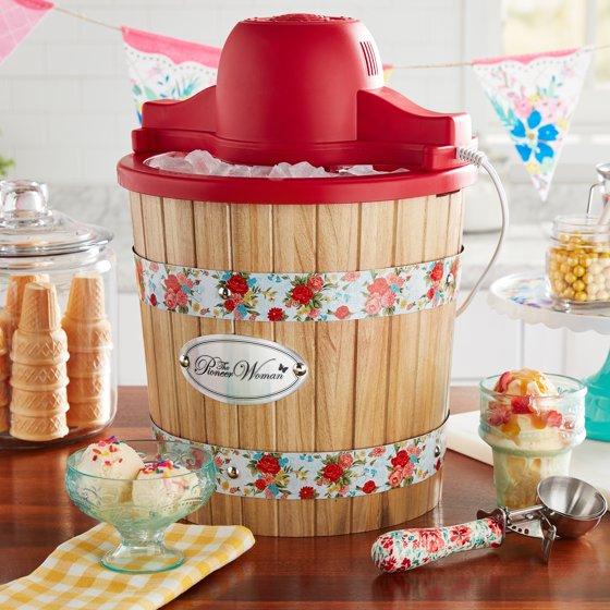 Sweet Rose Ice Cream Maker, 4-Quart