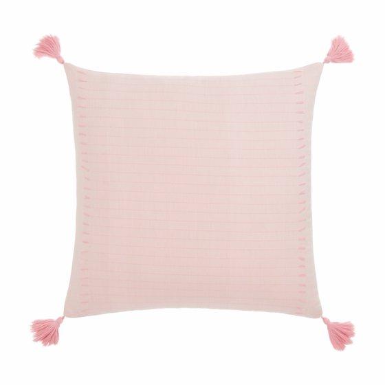 Frayed Denim Decorative Pillow