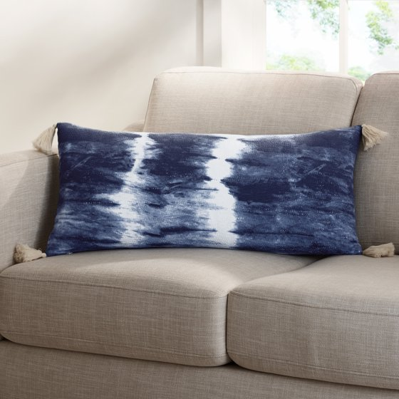 Tie Dye Decorative Pillow with Tassels
