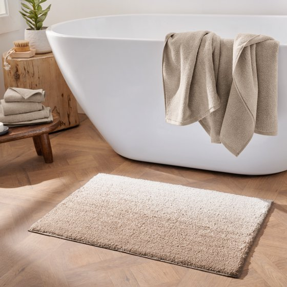 Melange Ombre Non-Slip Cotton Bath Rug