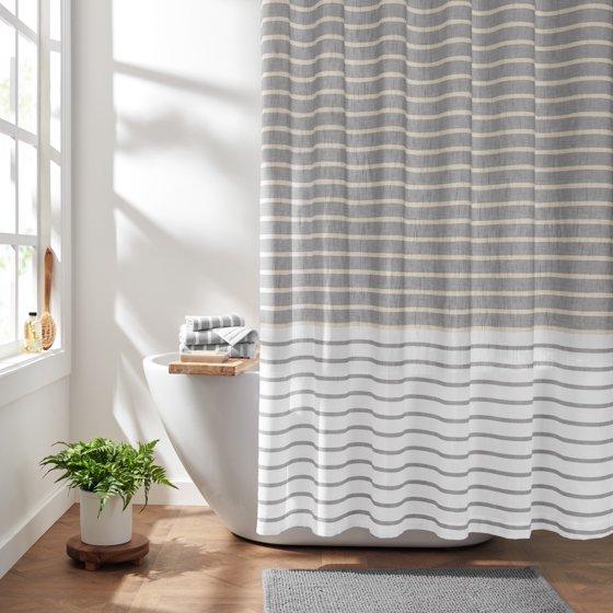 Easy Stripe Organic Cotton Shower Curtain