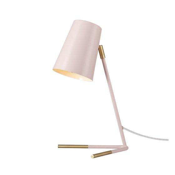 "16"" Matte Rose Desk Lamp with Matte Gold Legs"