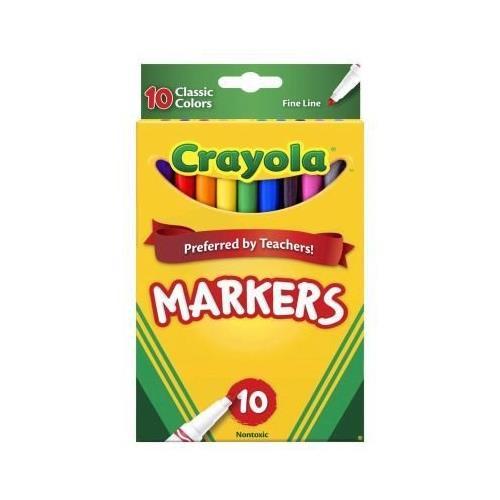 Classic Thin Line Marker Set, 10-Colors