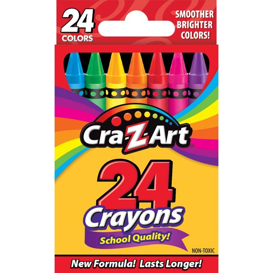 School Quality Crayons, 24 Count