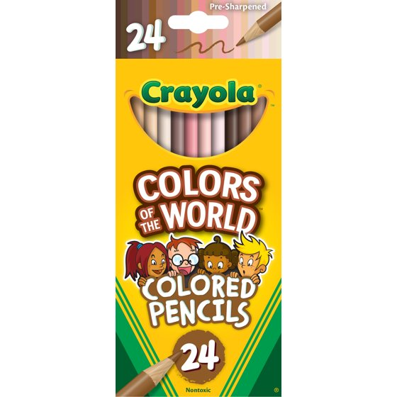 Colors of the World Colored Pencils, Assorted Colors, 24 Pieces
