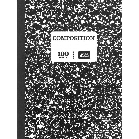 """Composition Book, Wide Ruled, 100 Pages, 9.75"""" x 7.5"""""""
