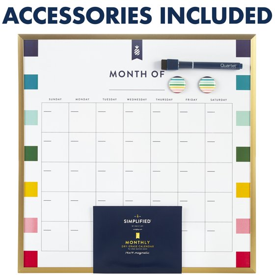 Magnetic Dry-Erase Calendar Board
