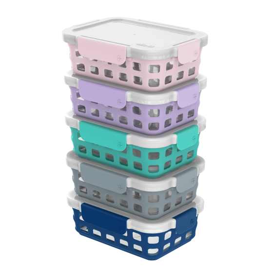 Glass 27 oz. Duraglass Food Storage Meal Prep Container Set, 10 Piece