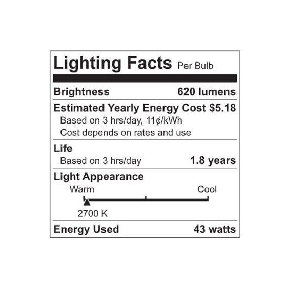 Halogen 60W Equivalent Soft White Color Light Bulbs (4 pack)