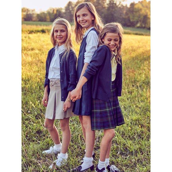 Girls School Uniform Pleated Jumper Dress