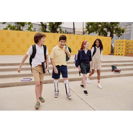 Boys School Uniform Short Sleeve Double Pique Polo Shirt