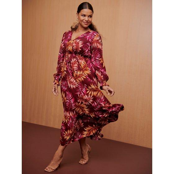Sofia Jeans Plus Size Maxi Dress With Empire Waist