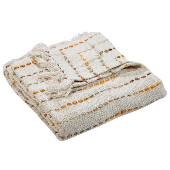 Soft Luxury Handmade Boho Striped Throw Blanket with Fringe