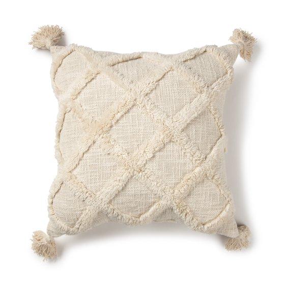 "Tufted Trellis Decorative Square Throw Pillow, 20"" x 20"""