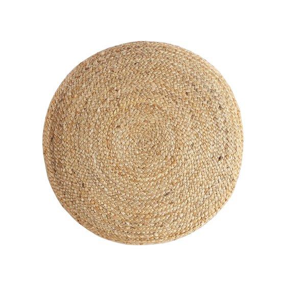 MoDRN Natural Boho Round Jute Floor Pouf