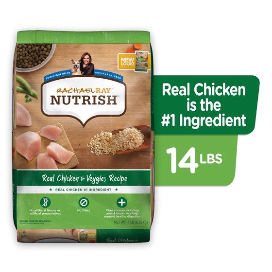 Natural Premium Dry Dog Food, Real Chicken & Veggies Recipe