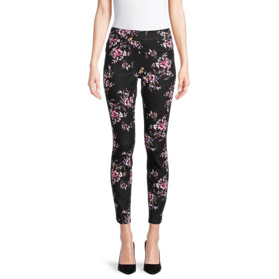Pull-On Printed Jeans, Pink/Black