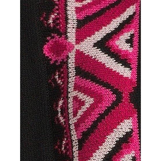 Open-Front Ruana Sweater, Black/sangria