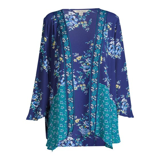 Sharkbite Duster with Long Sleeves, Womens, Teal Moon