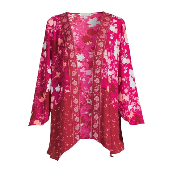 Sharkbite Twin Print Duster with Long Sleeves, Classicred