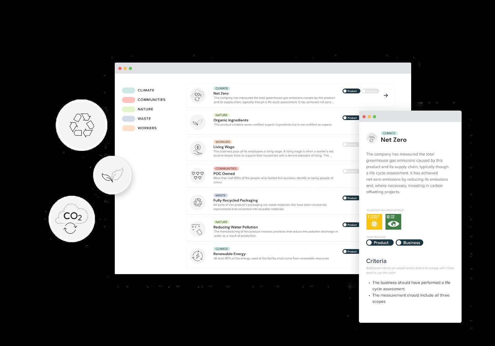 Transparency Framework Mockup
