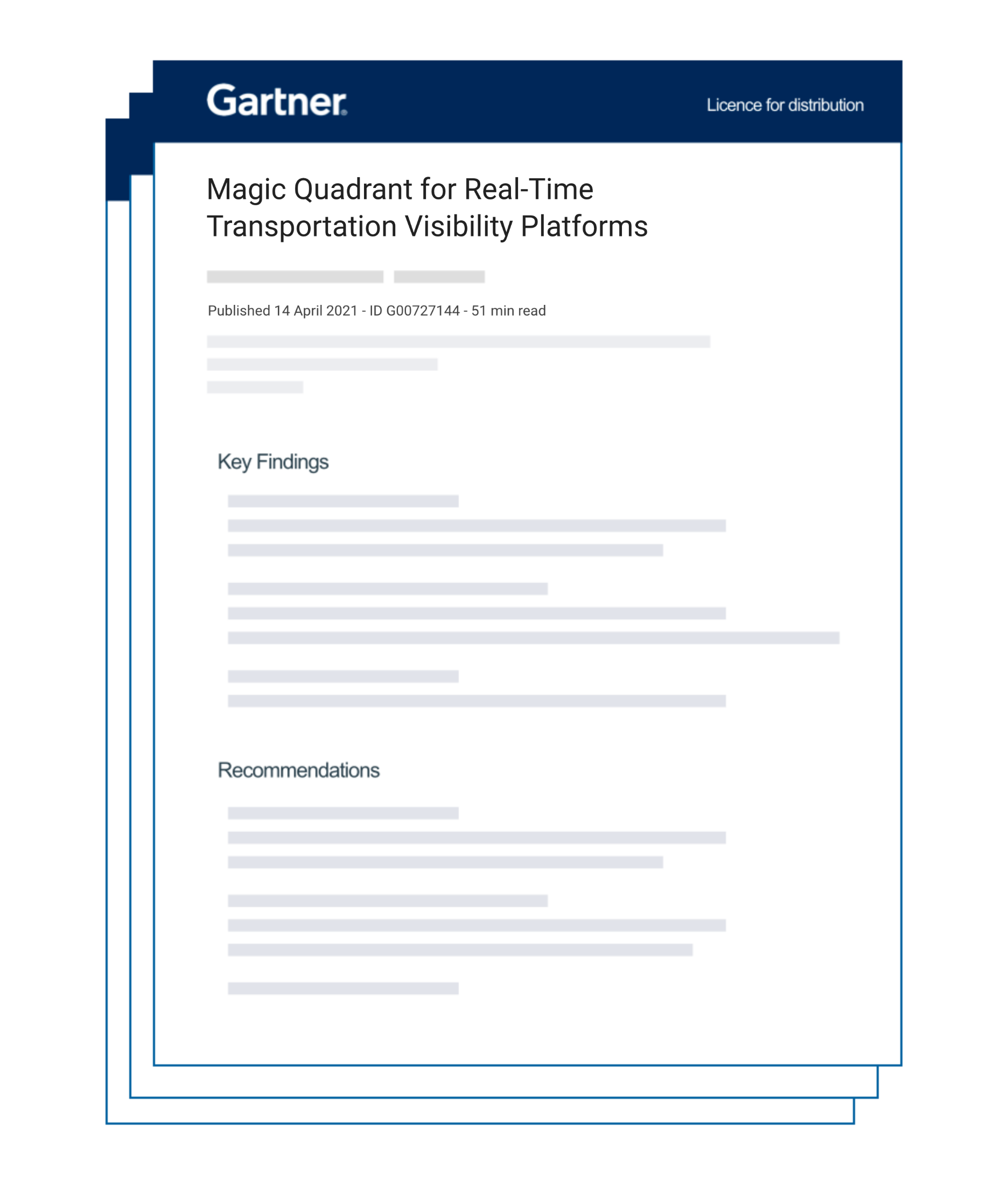 Shippeo is delighted to have been recognized by Gartner in the inaugural Magic Quadrant for Real-time Transportation Visibility Platforms 2021.