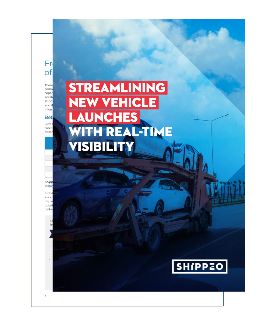 Image of the Streamlining new vehicle launches with real-time visibility ebook