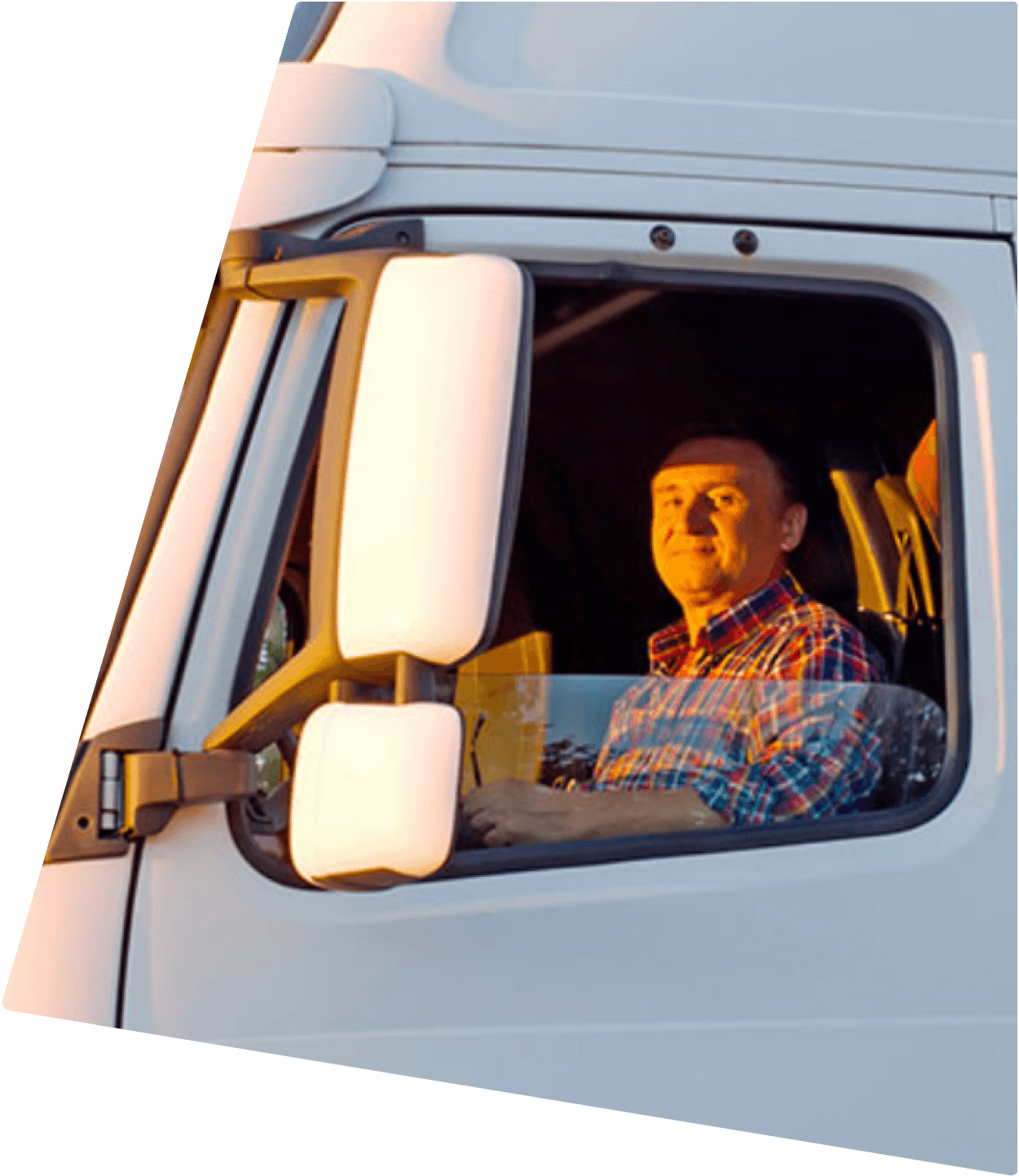Driver driving a truck