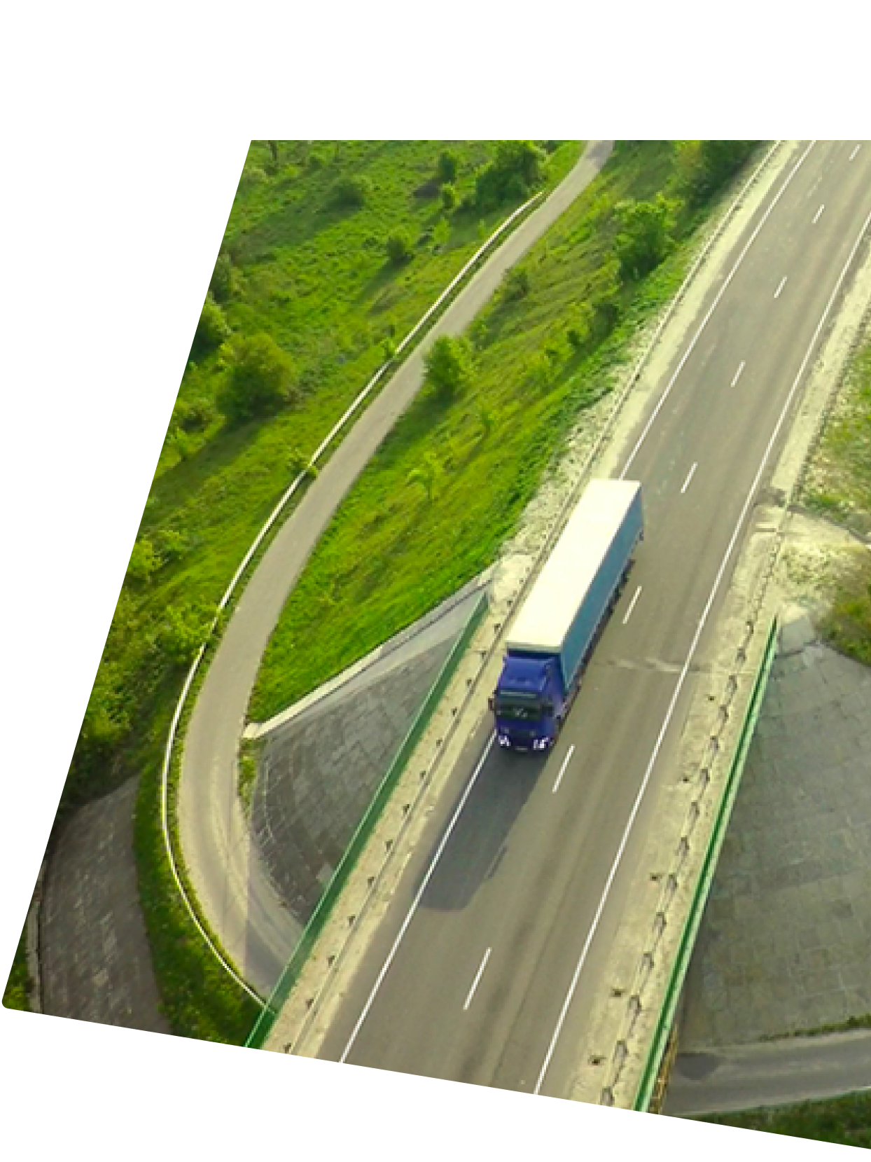 A truck on a road