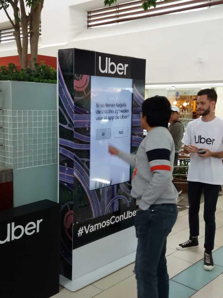 Uber - Interactive digital signage - Intuiface software