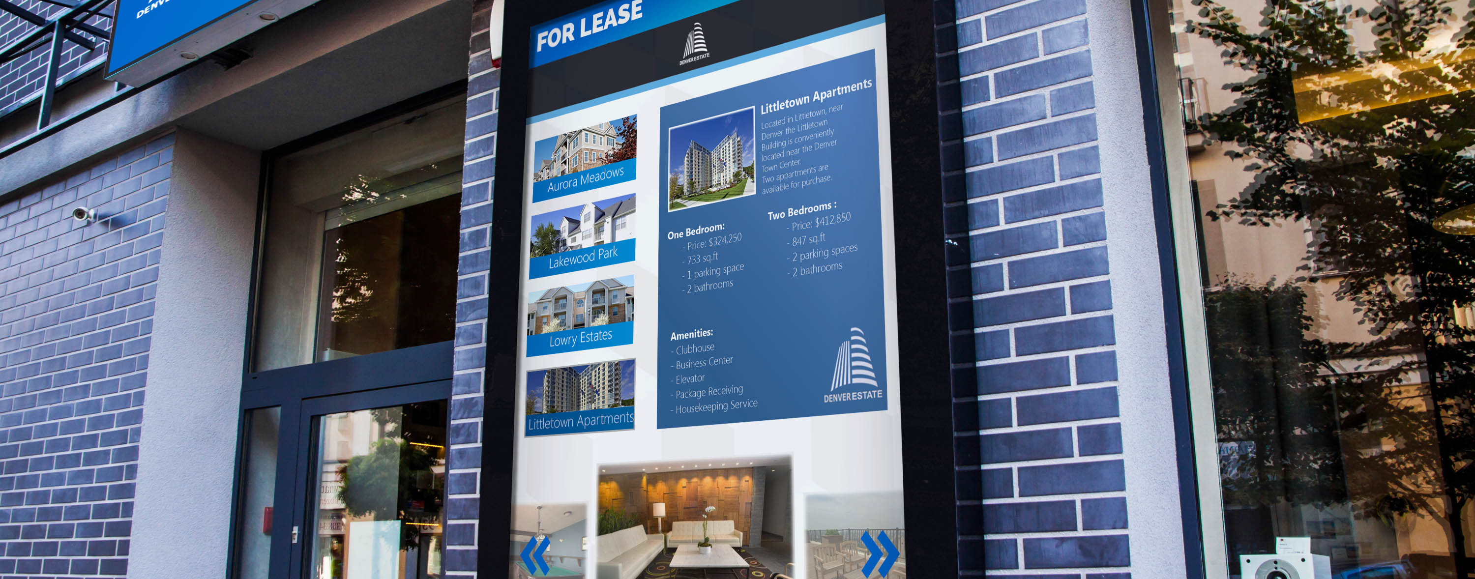 Interactive Display Screen for real estate industry