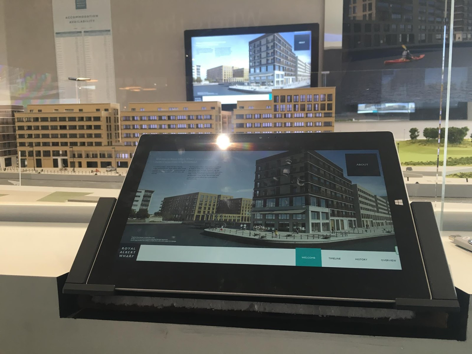 Tablet showcasing some residential properties
