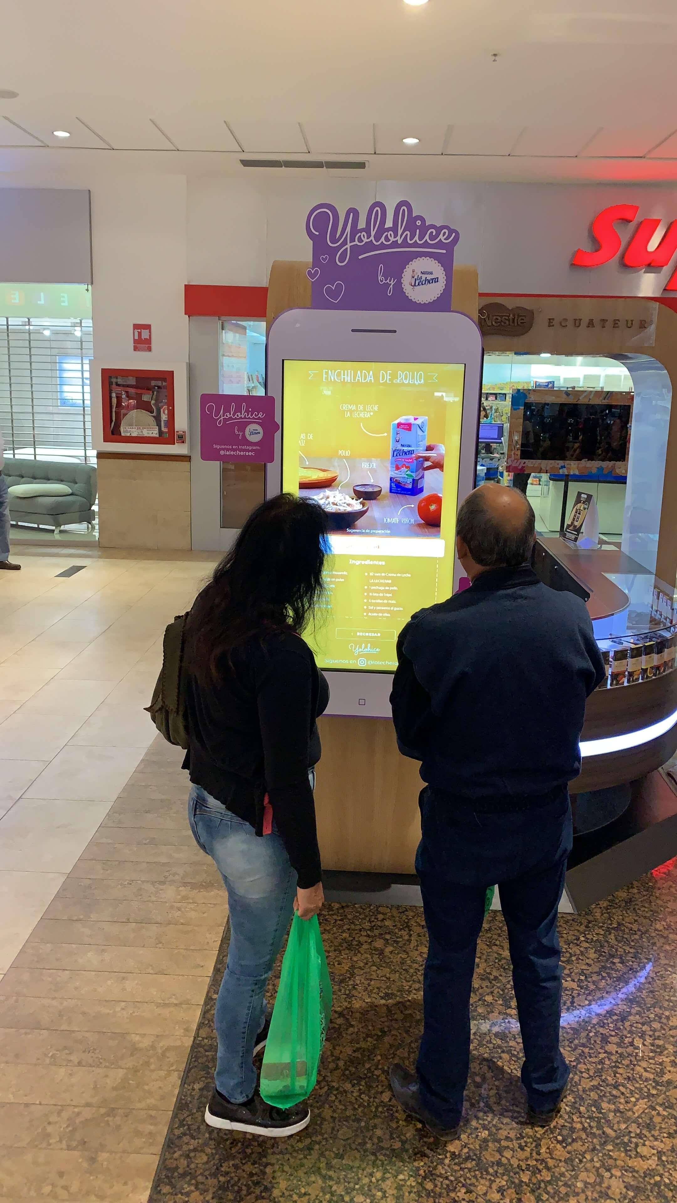Interactive kiosk - Intuiface software