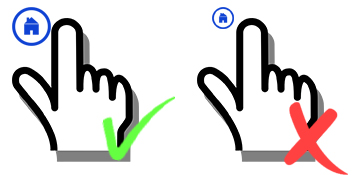 Design big buttons in Multi-Touch experiences