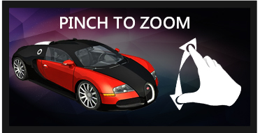 Pinch to zoom a media in an Interactive experience