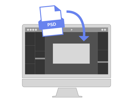 Import Your PSD files