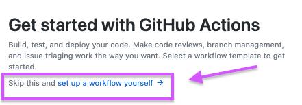 set up a workflow link