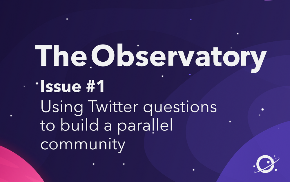 Using Twitter questions to build a parallel community
