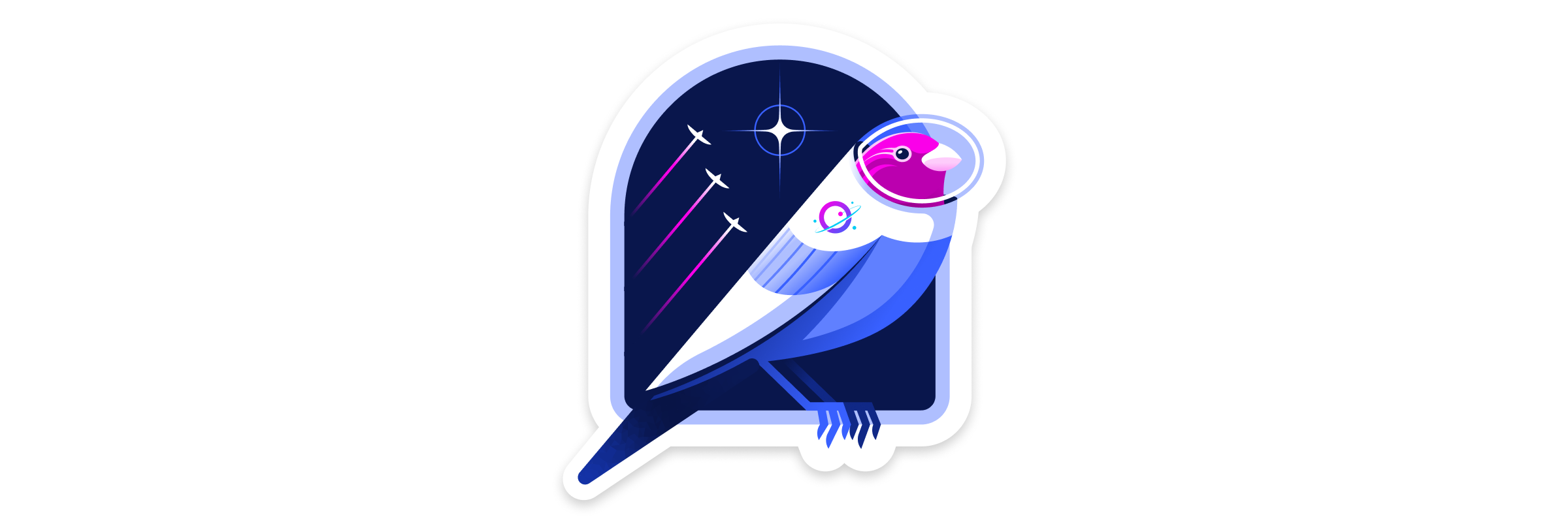 Illustration of a canary in a space suit