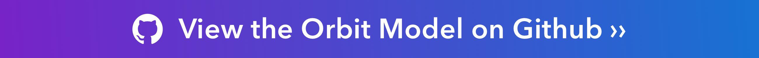 The Orbit Model on GitHub